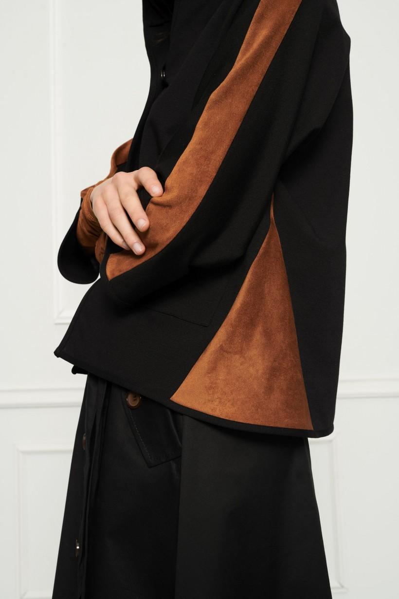 Luźna bluza z kapturem