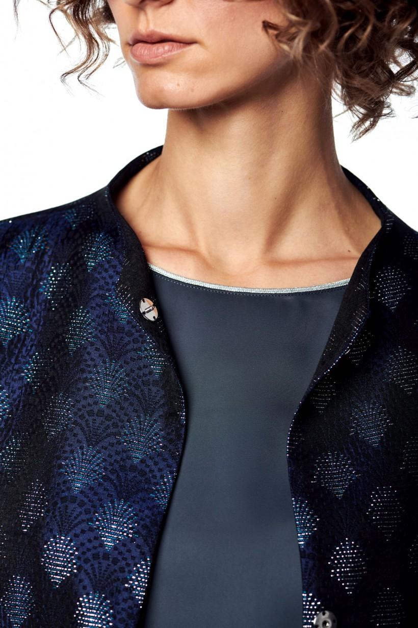 Żakardowy płaszcz