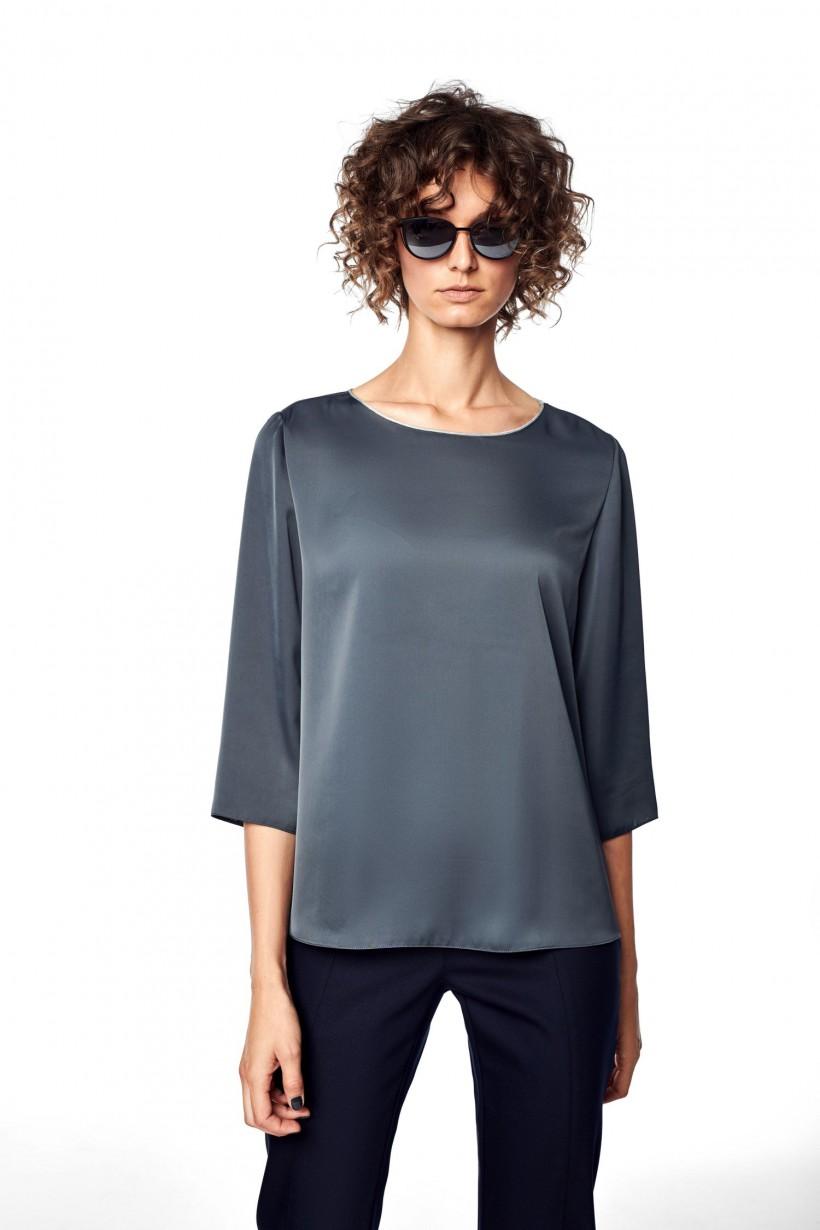 Bluzka w kolorze antracytu