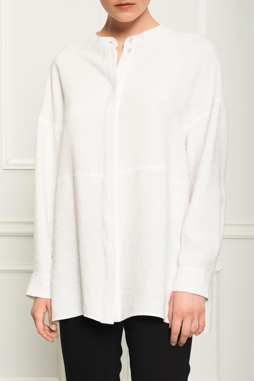 Biała koszula na stójce