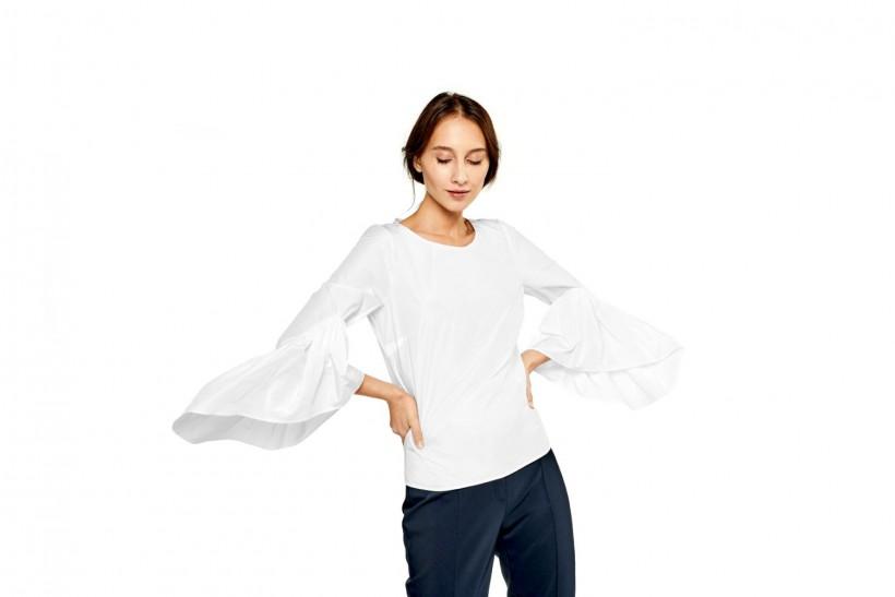 Oryginalna bluzka z eleganckiej tafty