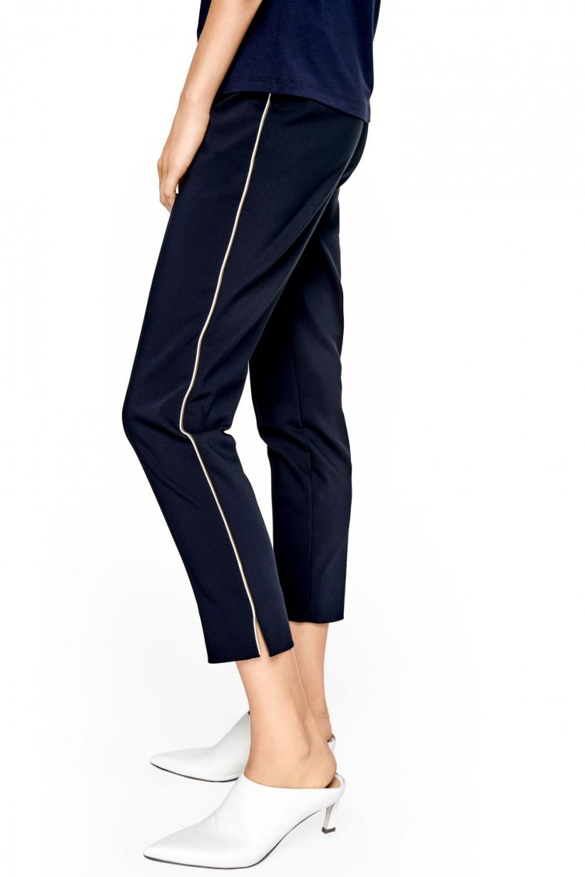 Bawełniane spodnie z lampasami
