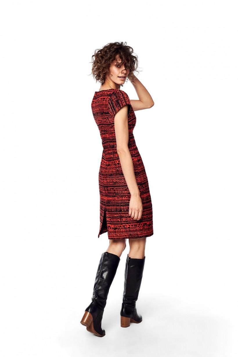 Sukienka żakardowa