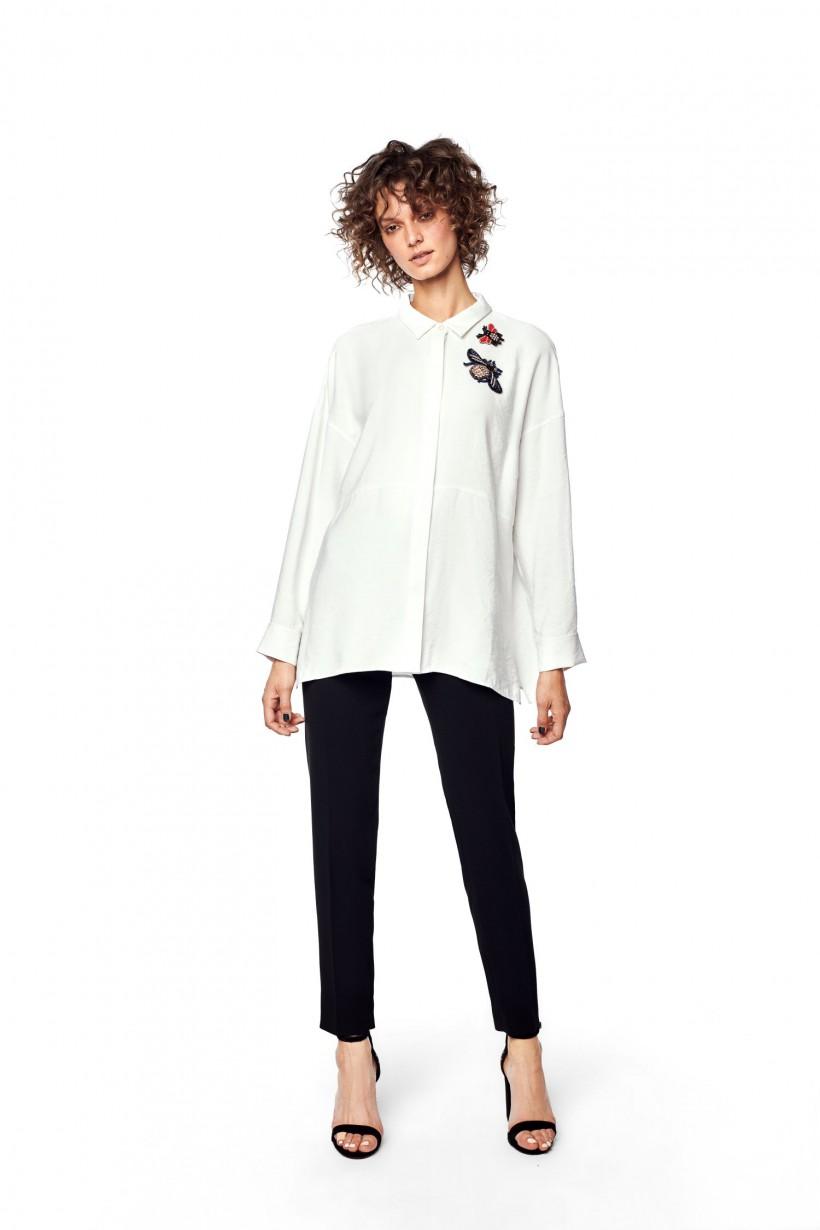 5275d72906 Biała koszula oversize Hexeline Odzież damska
