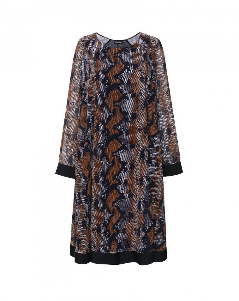 Sukienka z kolorowym printem o linii