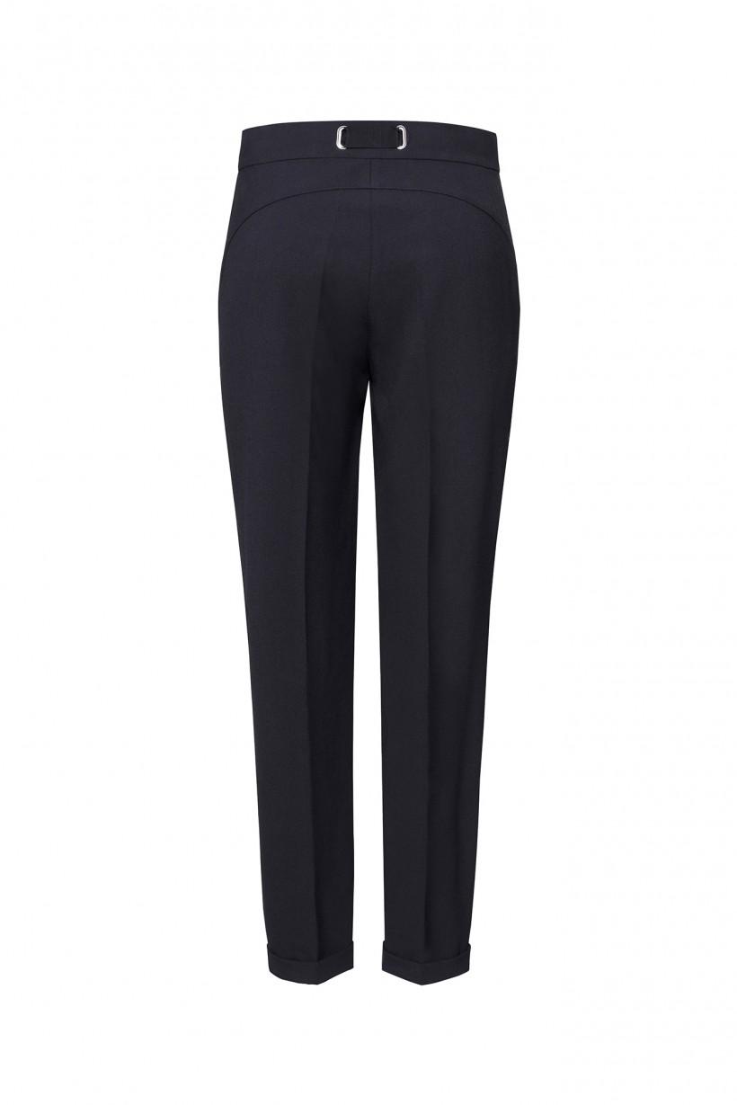 Czarne spodnie z mankietem