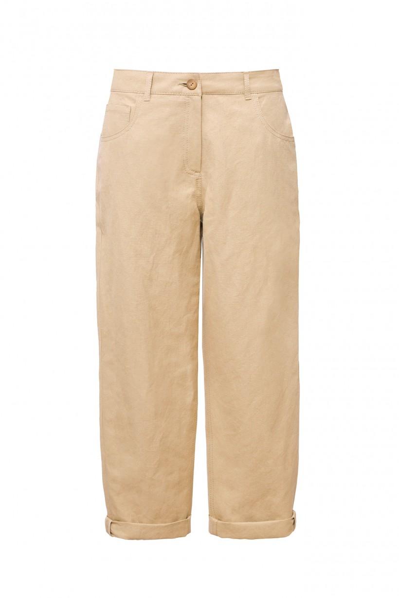 Bawełniane spodnie w beżowym kolorze