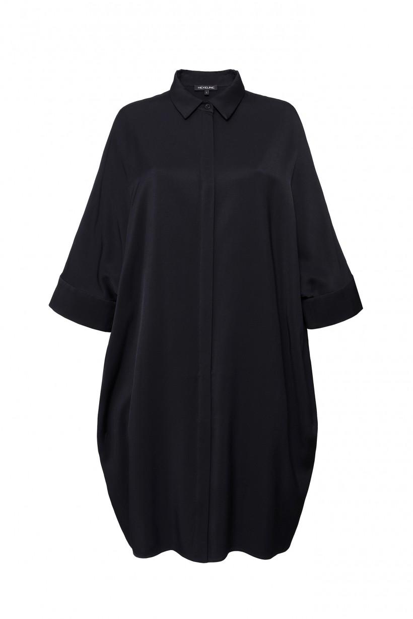 Sukienka koszulowa z rękawem kimono