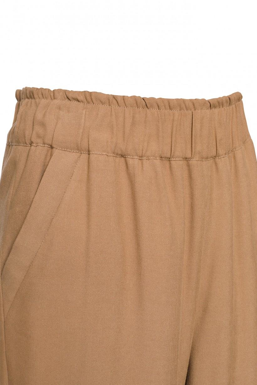 Wygodne spodnie w kolorze camel