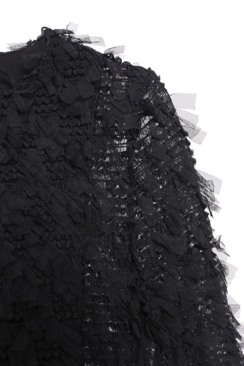Czarny żakiet o przestrzennej fakturze