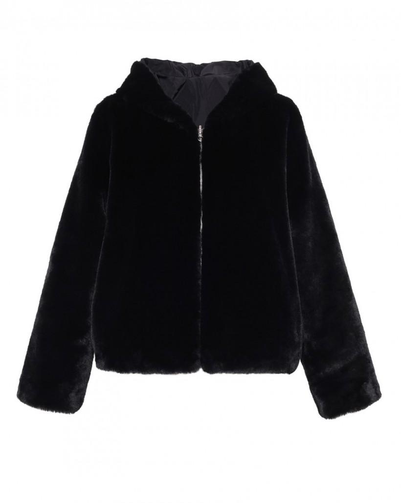 Dwustronna kurtka w kolorze czarnym