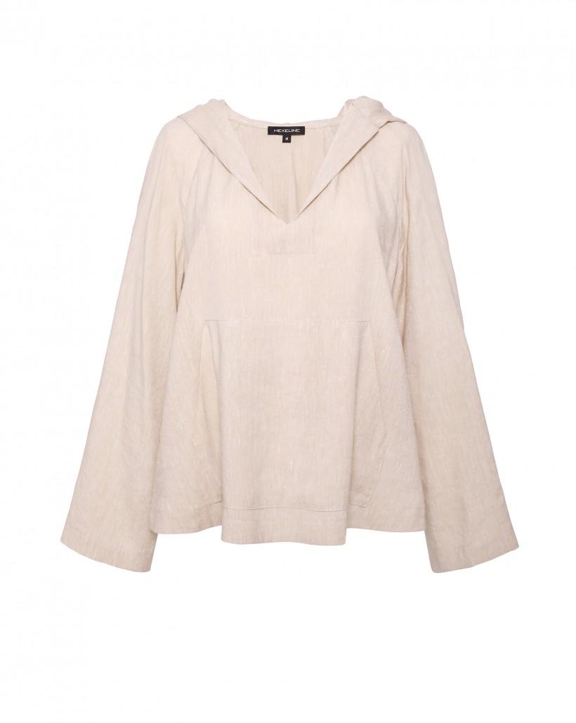 Beżowa bluza z kapturem
