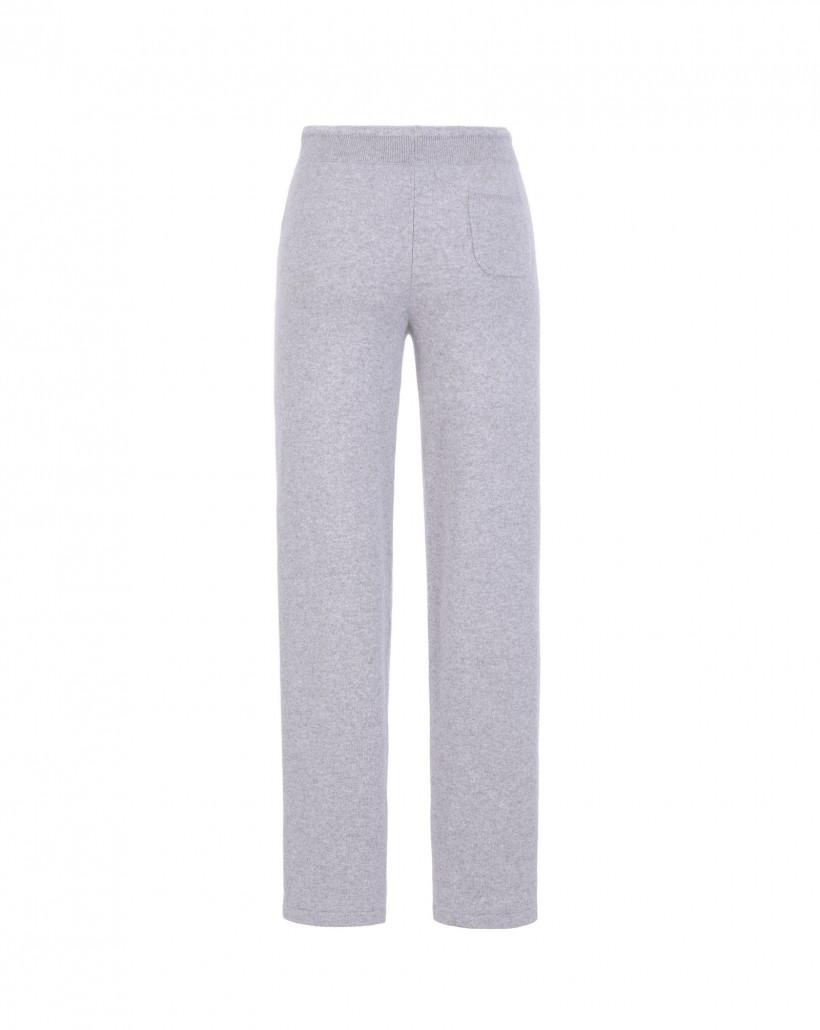 Sportowe spodnie z kaszmiru w odcieniach szarości