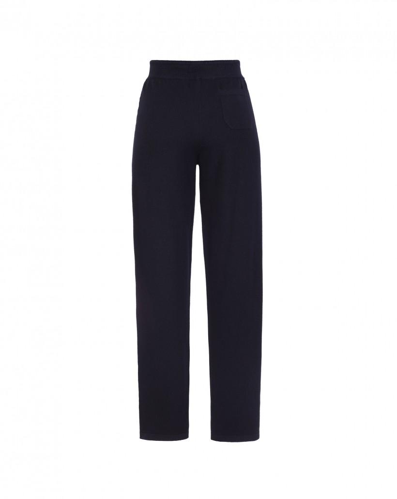 Czarne sportowe spodnie z wełny merynosa