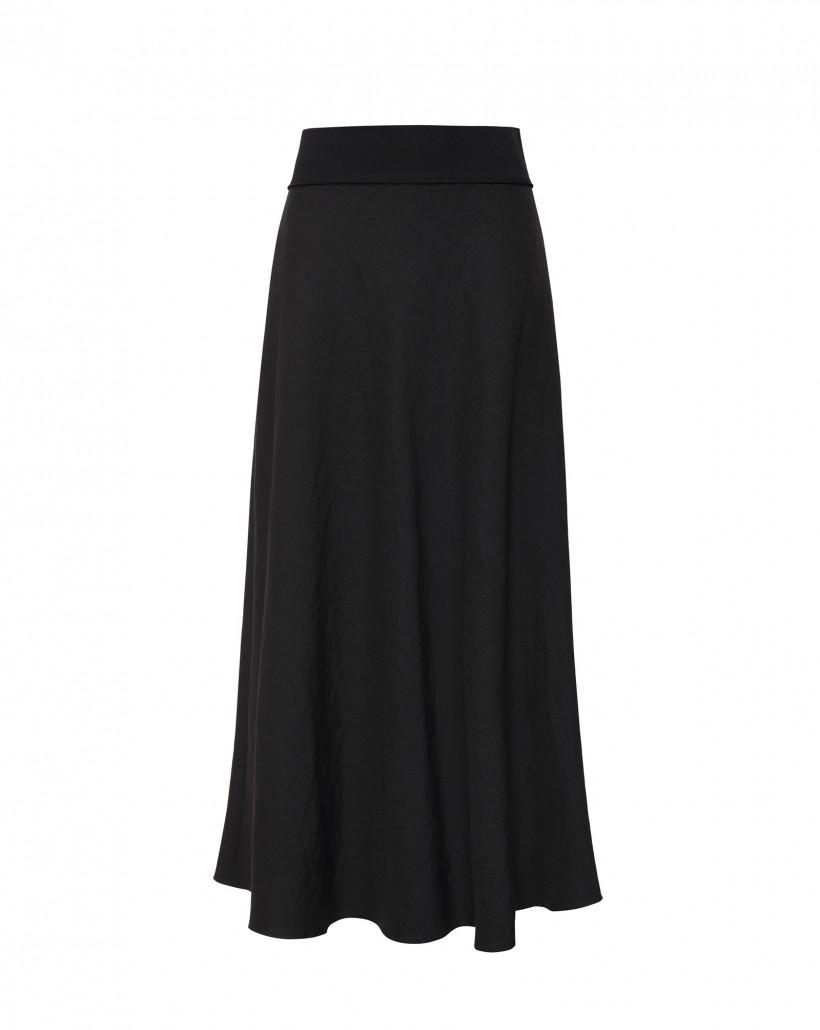 Spódnica o długości maxi w czarnym kolorze