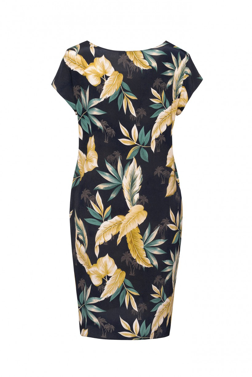 Sukienka z motywem liści