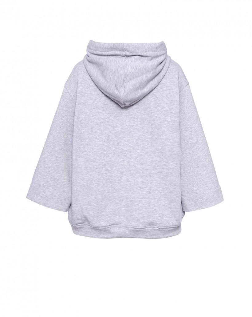 Bawełniana bluza z kapturem w kolorze szarym