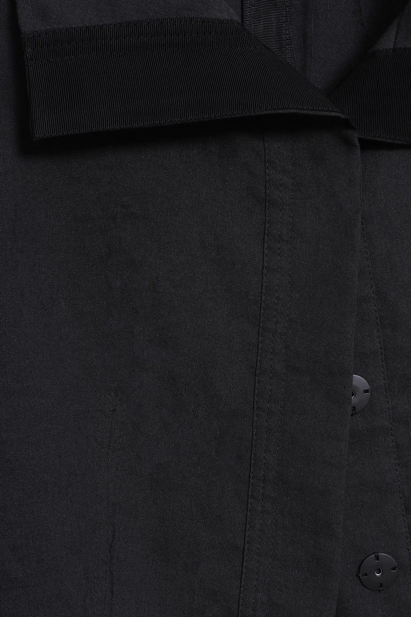 Krótka kurtka z lnem