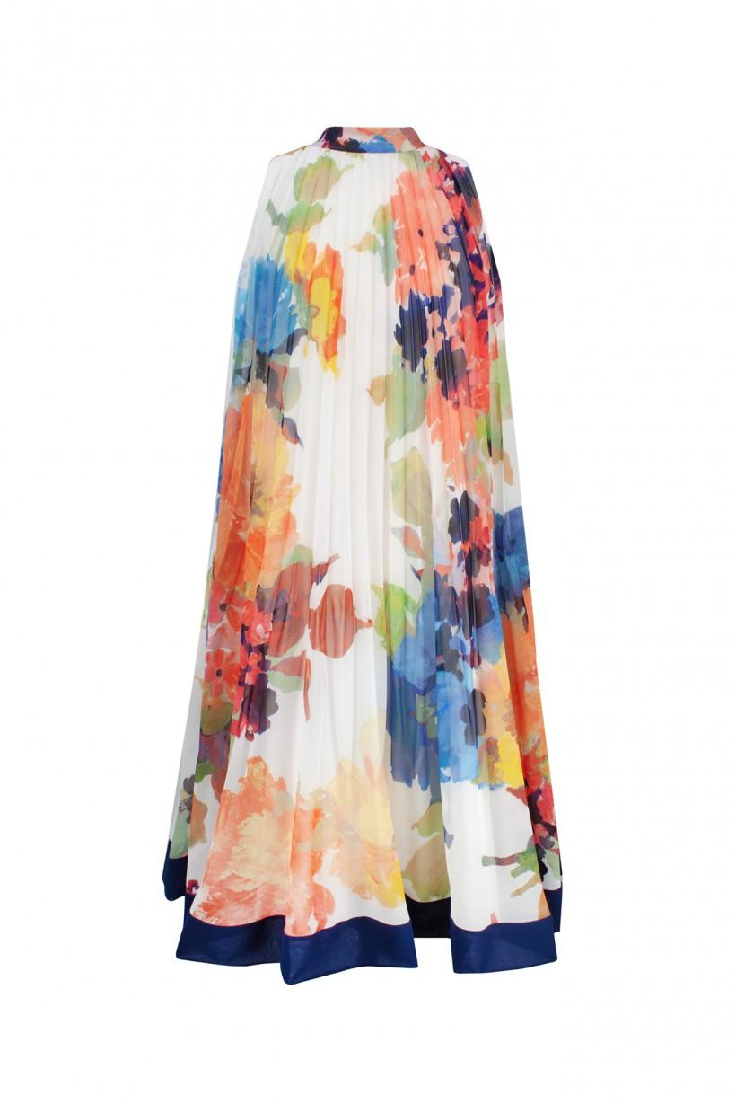 Plisowana sukienka w kwiatowy wzór