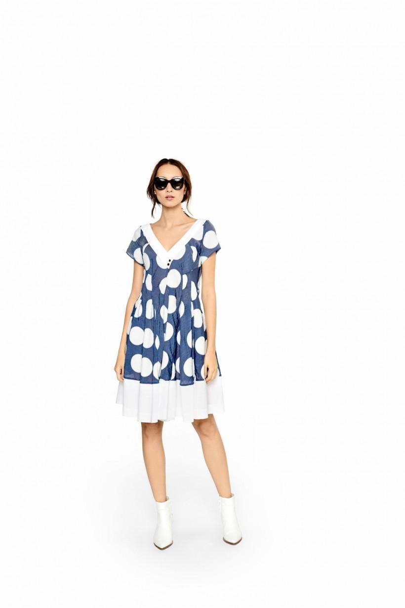 Bawełniana sukienka w koła