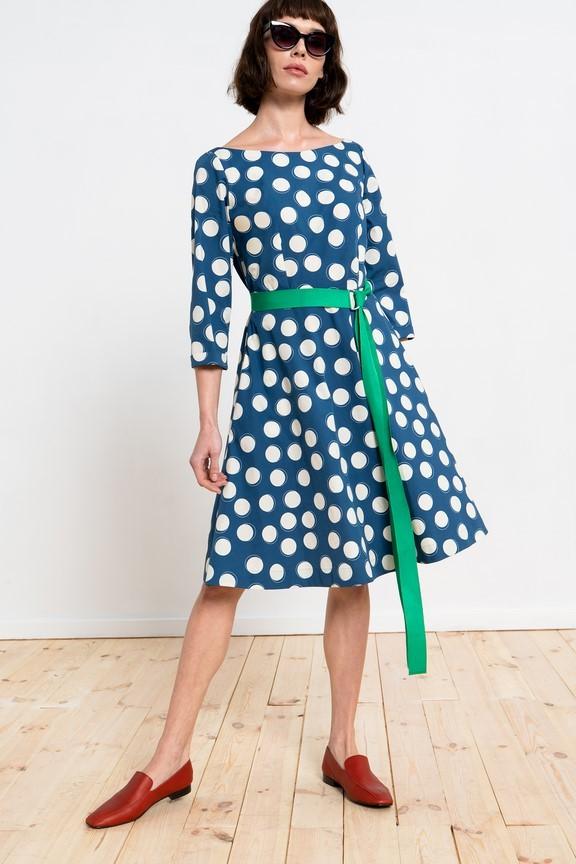 Bawełniana sukienka w grochy