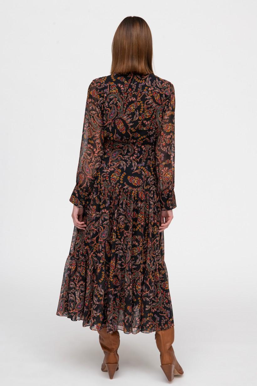 Maxi sukienka w odcieniach brązu