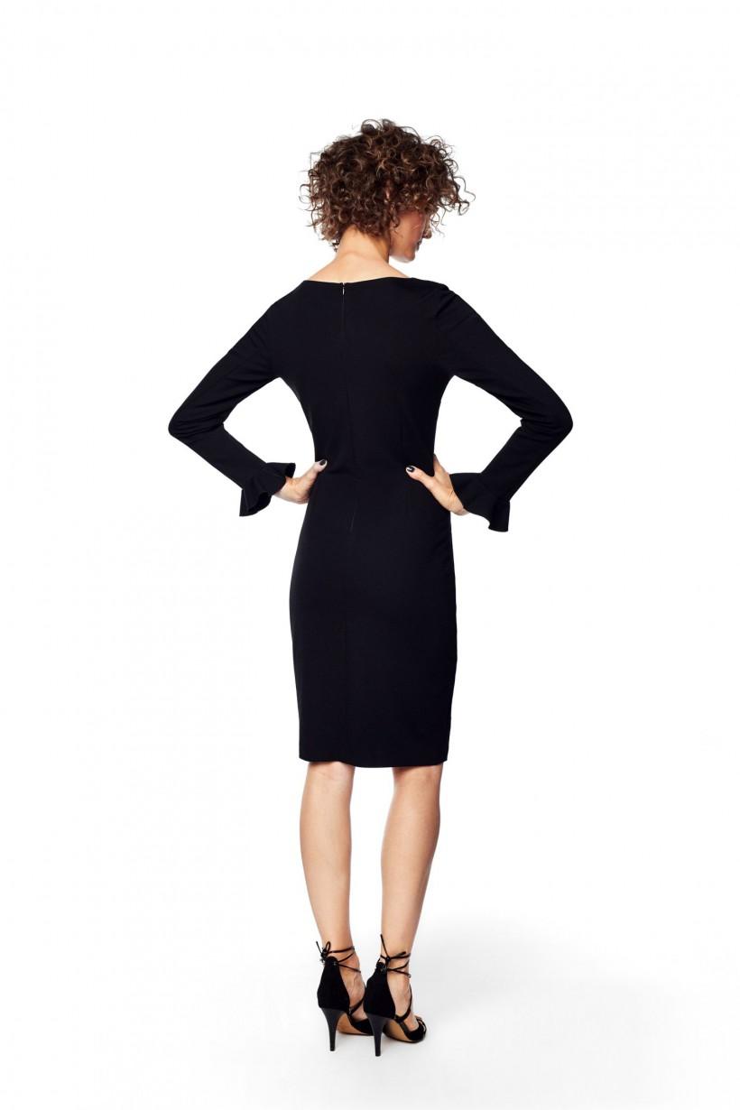 Czarna sukienka ołówkowa