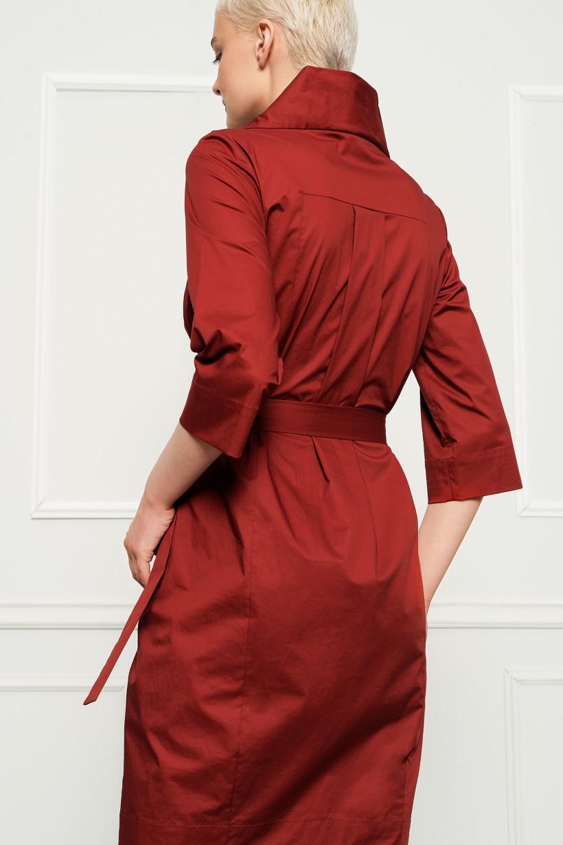 Ruda bawełniana sukienka