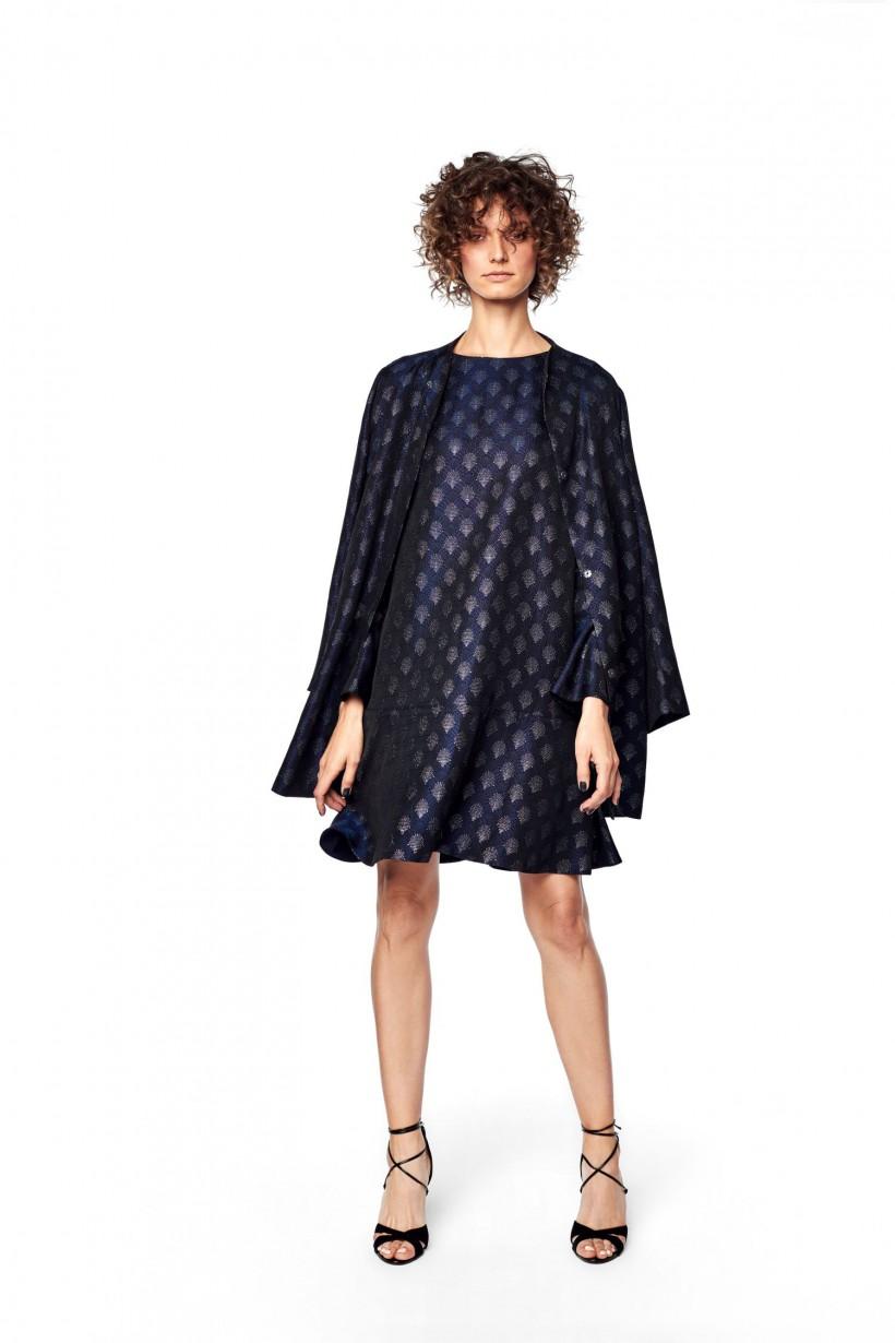Granatowa, luźna sukienka