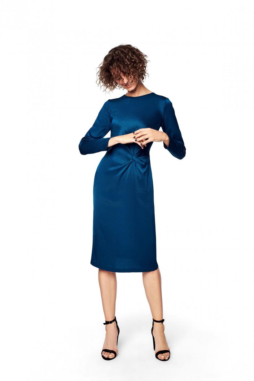 Elegancka sukienka w kolorze turkusowym