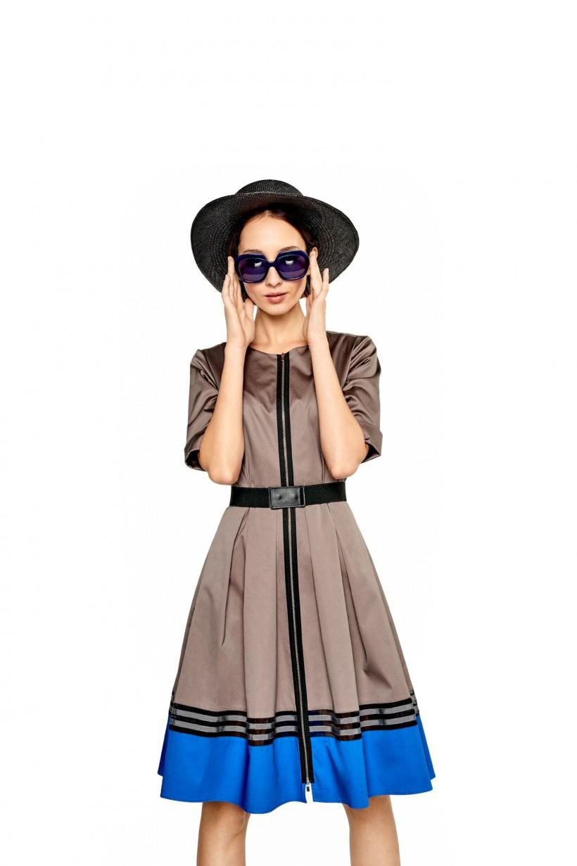 Bawełniana sukienka z paskiem