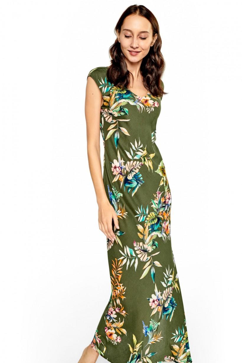 Letnia sukienka w drukowane wzory