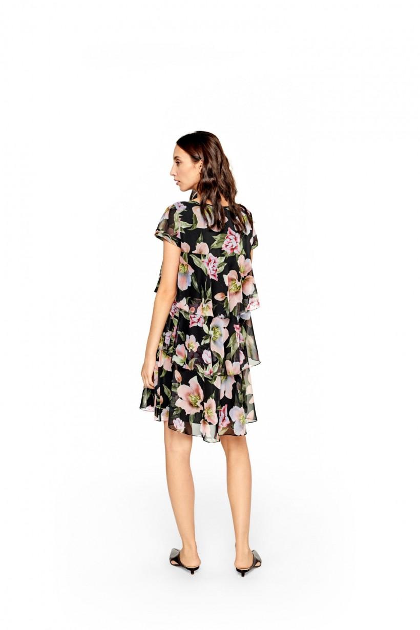Sukienka szyfonowa z falban