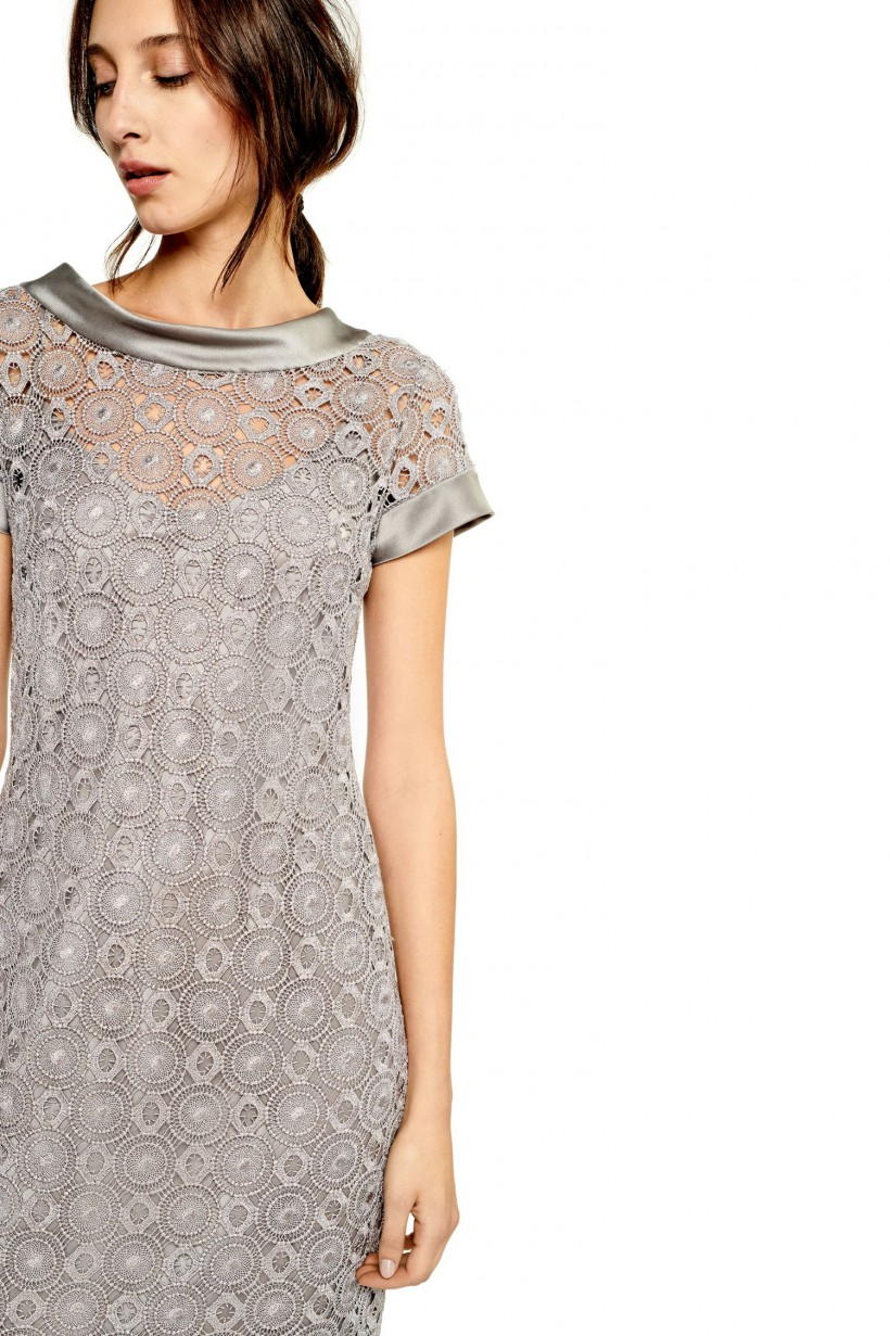 6017ea75e06025 Wieczorowa sukienka z koronki gipiurowej - Sukienki - Wiosna Lato ...