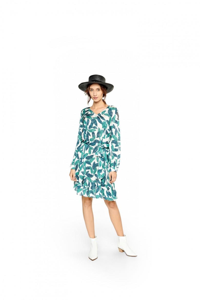 f8ac958255 Drukowana sukienka z paskiem - Sukienki - Wiosna Lato 2019 Hexeline ...