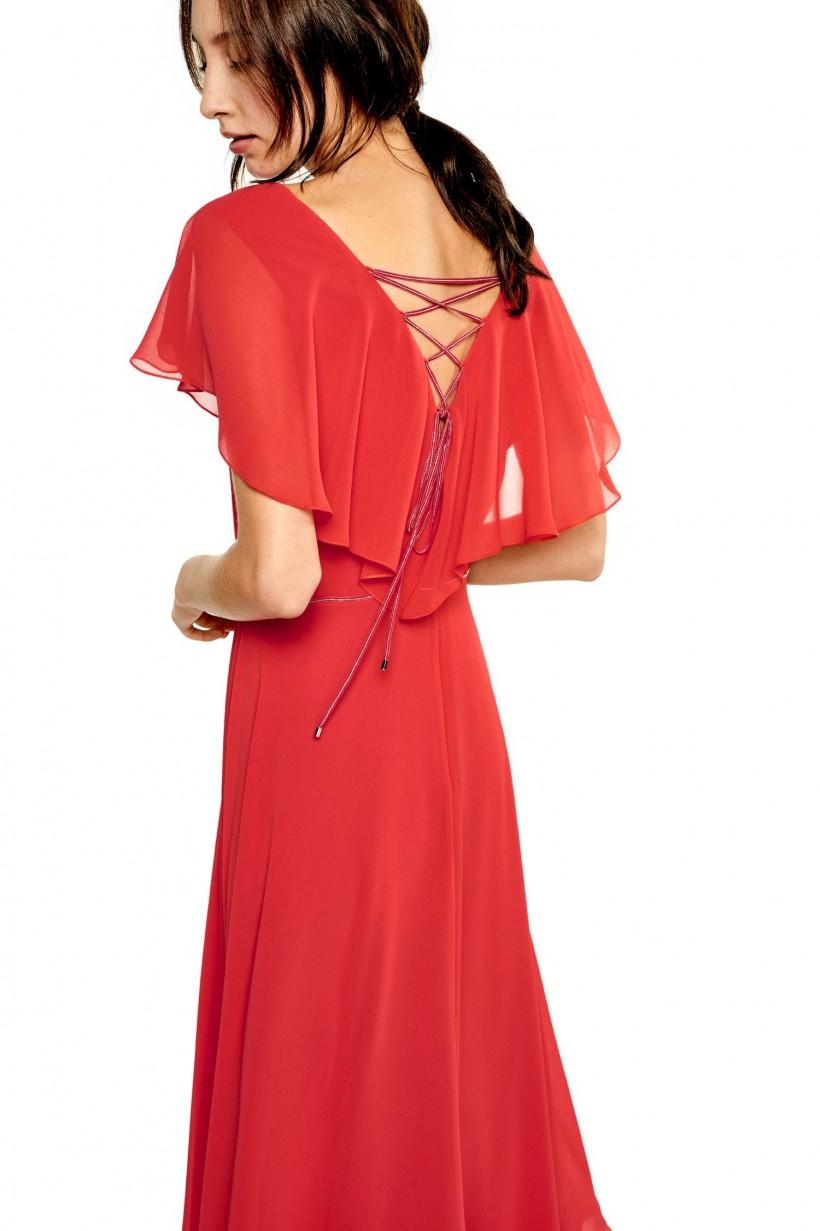 e6fd413eaa Wieczorowa sukienka w kolorze malinowym - Sukienki - Wiosna Lato ...