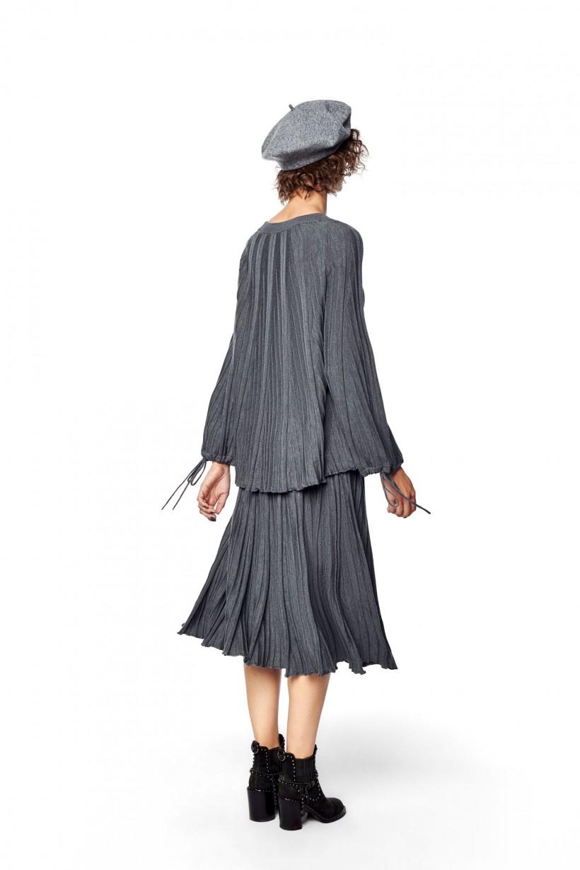 Spódnica z wełny merynosowej