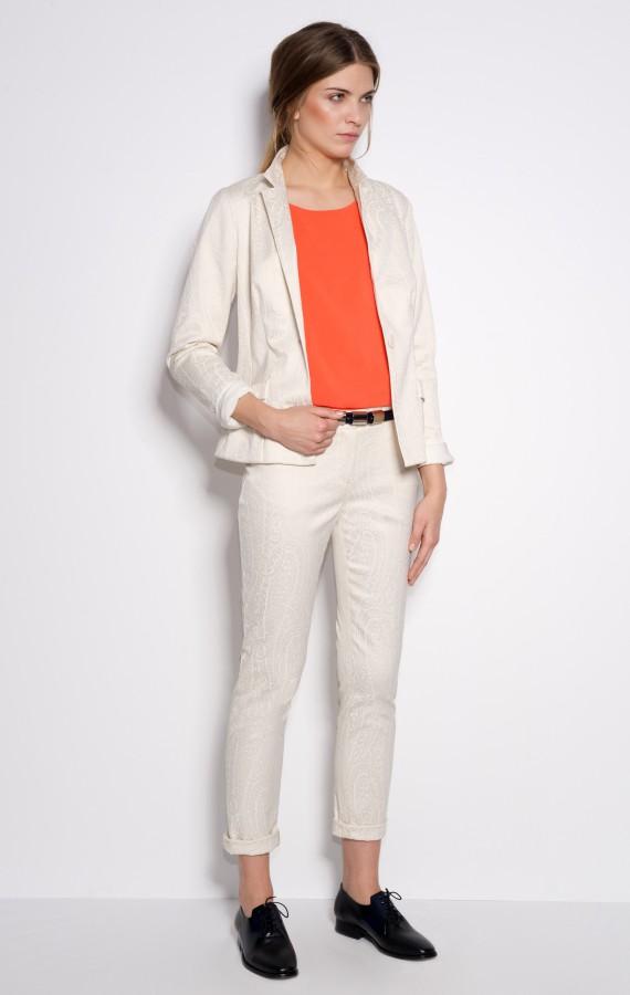 Spodnie żakardowe