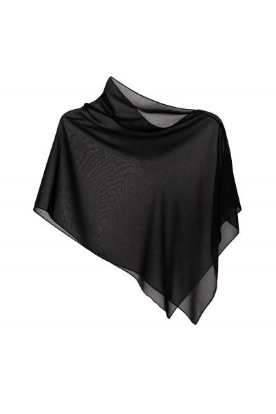 Ponczo transparentne w kolorze czarnym