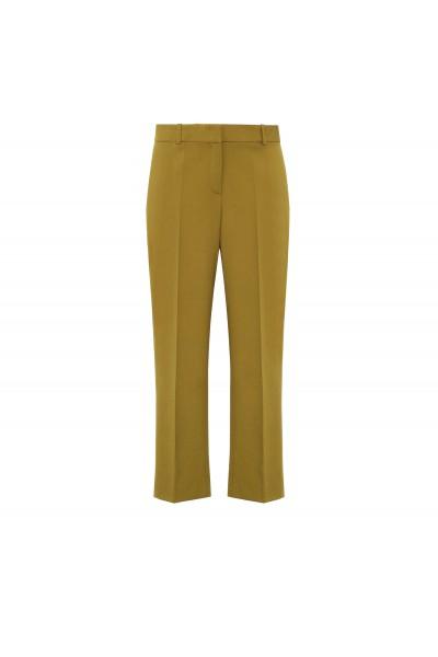 Limonkowe spodnie w kant