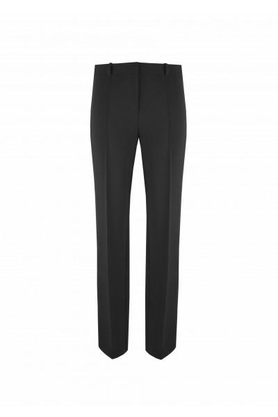 Czarne spodnie z kantami