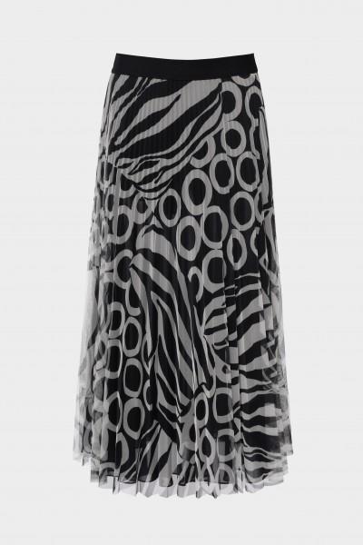 Plisowana spódnica z tiulu w geometryczny wzór