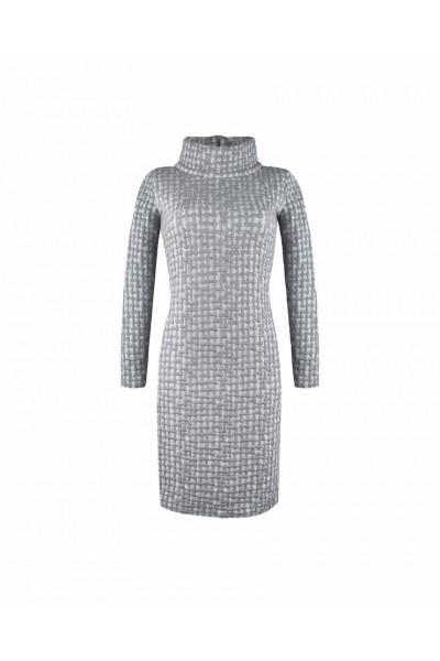 Ciepła sukienka z kominem
