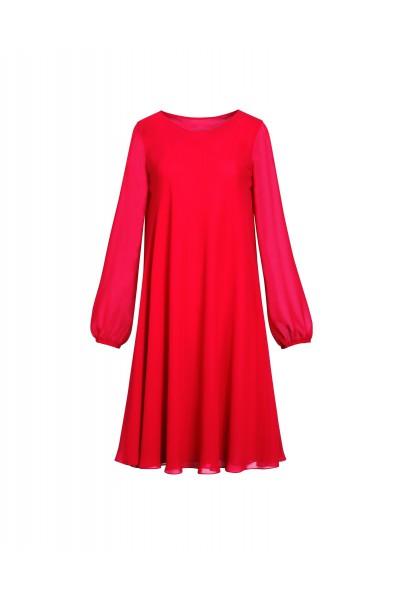 Zwiewna czerwona sukienka