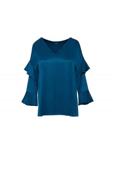 Luźna bluzka w kolorze turkusowym
