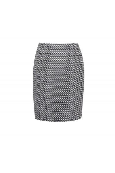 Ołówkowa spódnica w drobny wzór