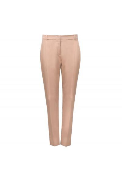 Beżowe spodnie z kantem