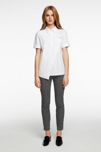 Bawełniana bluzka z asymetrycznym przodem