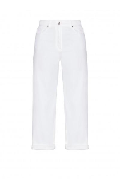 Bawełniane spodnie w kolorze białym