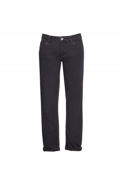 Czarne jeansy o dopasowanym kroju
